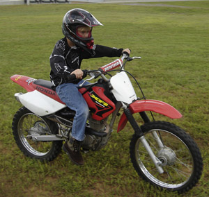 Cameron Barr on First Motorcycle on first day he got it