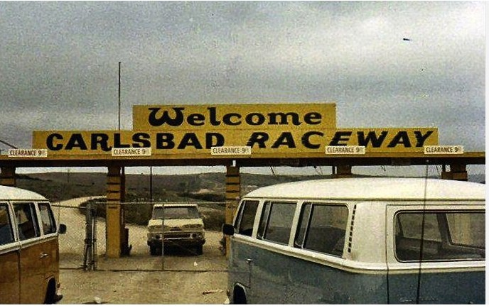 Entrance to Gate at Carlsbad Raceway in the early 70s