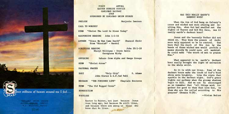 1st Easter Sunrise Service 1968