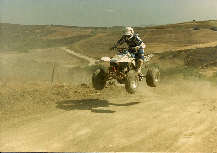 Anthony Murguia near the top of the Uphill in a 1987 Gran Prix