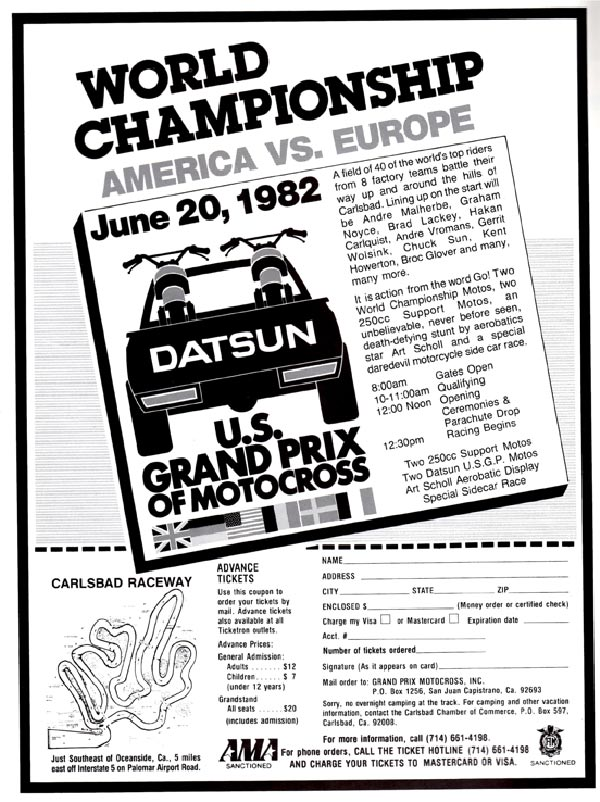 June 1982 USGP magazine ad