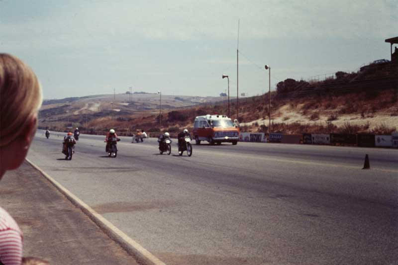 Thanks to Roger Davis for this mid-70's Motorcycle Road Race photo.