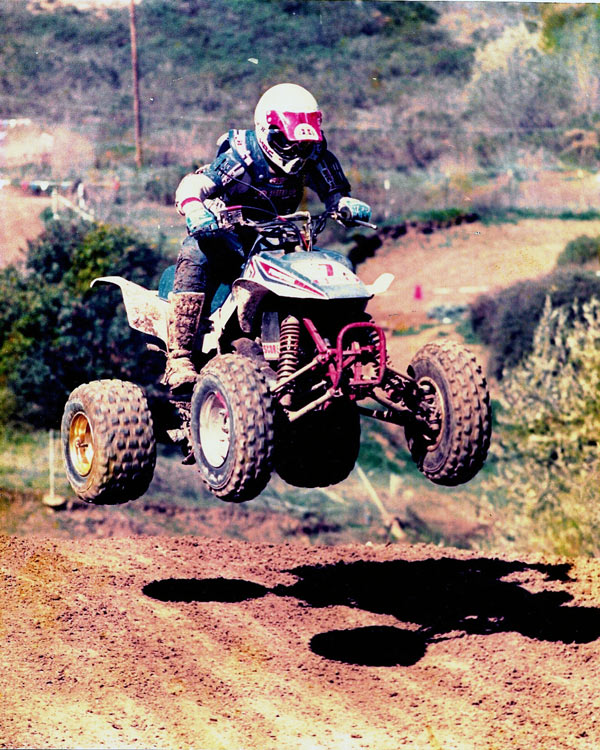 Anthony Murguia on the Uphill - 1987