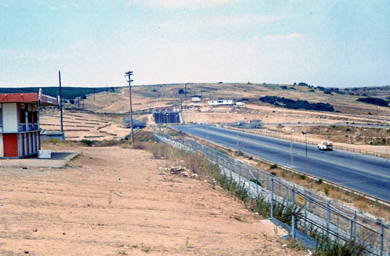 Photo-Thanks to Gregory May for this photo taken from the 1/8th mile dragstrip grandstands before a late 1960's Sports Car Race.  From the center of the horizon to the far right is where the USGP Uphill & Downhill were soon to be created.