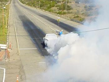 White Truck Burnout -5